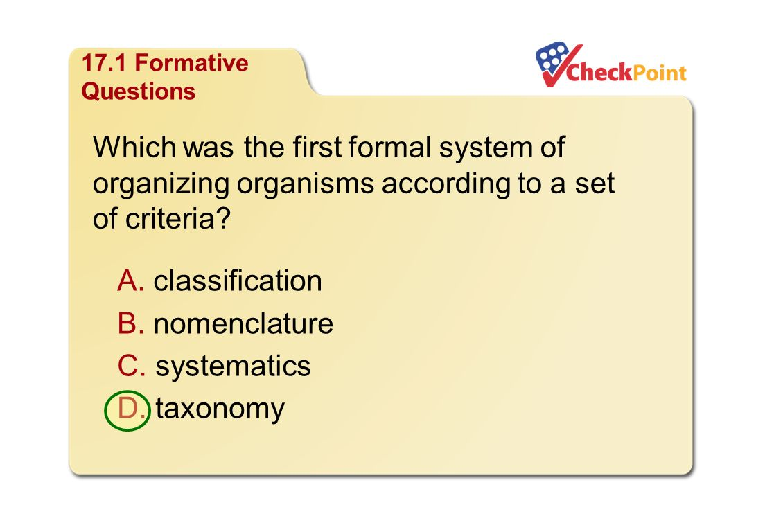 Classification of organisms worksheet answer key