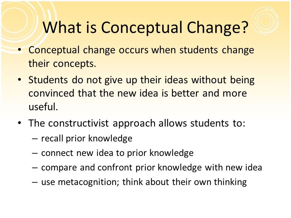 What is Conceptual Change
