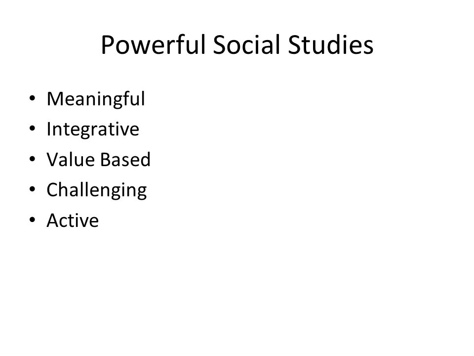 Powerful Social Studies