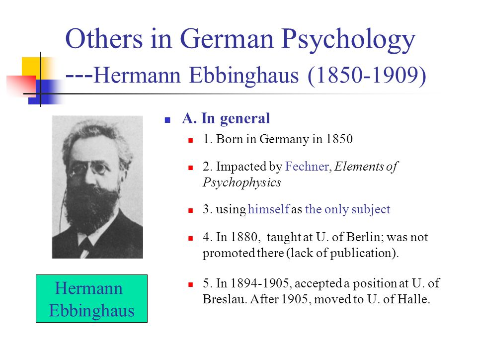 account of the life and accomplishments of herman ebbinghaus