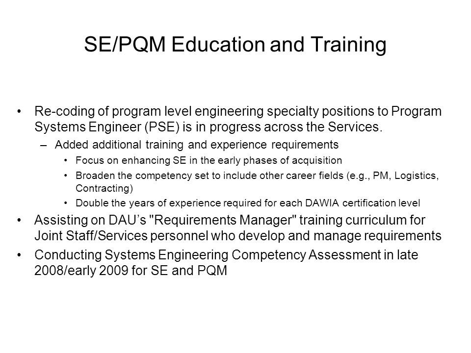 Requirements For Aerospace Engineering Education And Training : Systems engineering and parts management ppt download