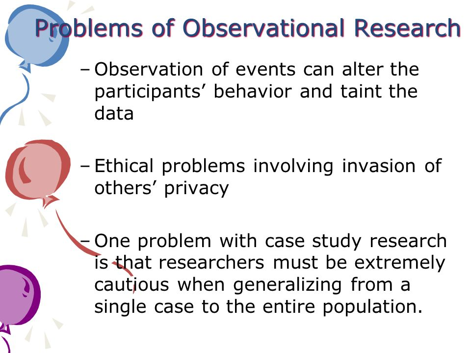 Problems of Observational Research