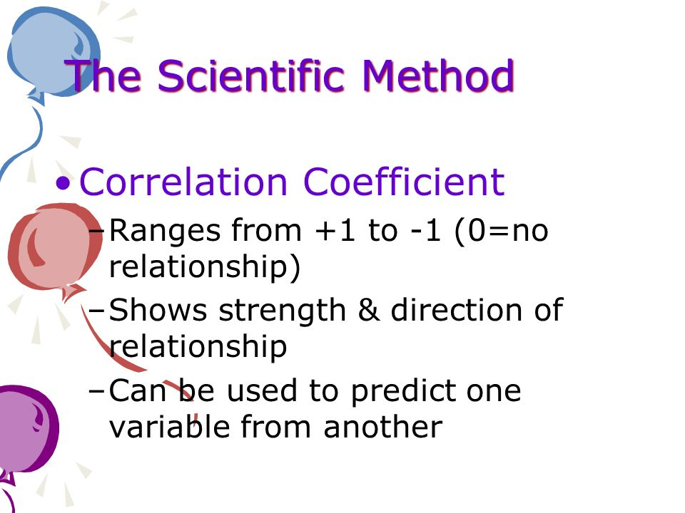 The Scientific Method Correlation Coefficient