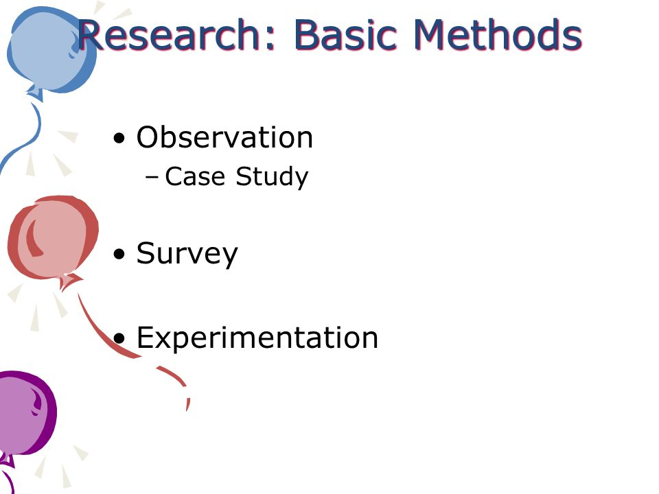 Research: Basic Methods