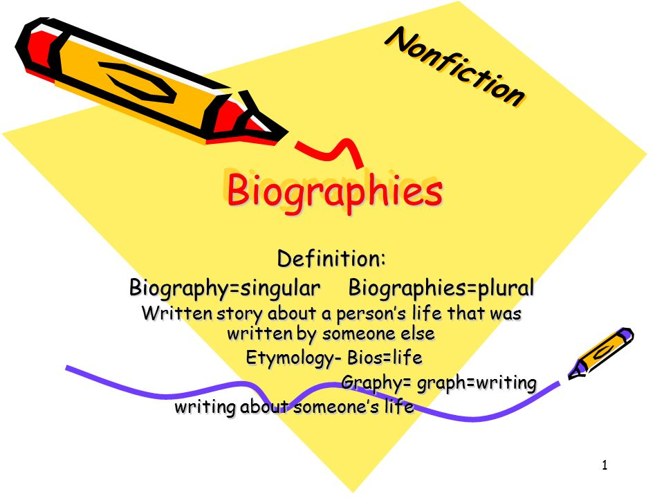 biographical essays definition
