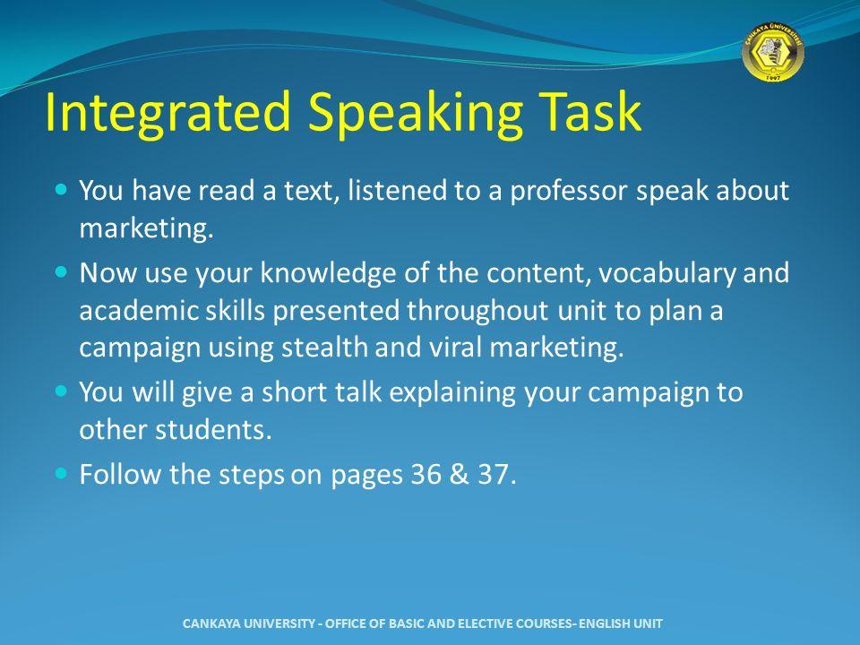 Integrated Speaking Task