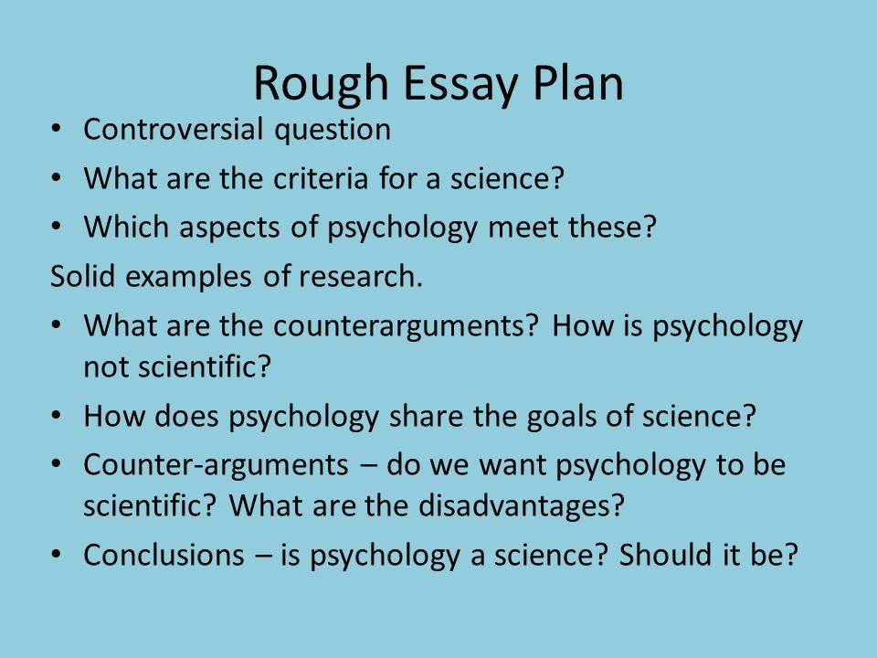 Beau Rough Essay Plan Controversial Question