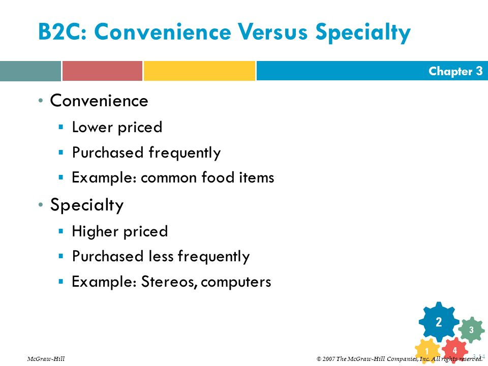 B2C: Convenience Versus Specialty