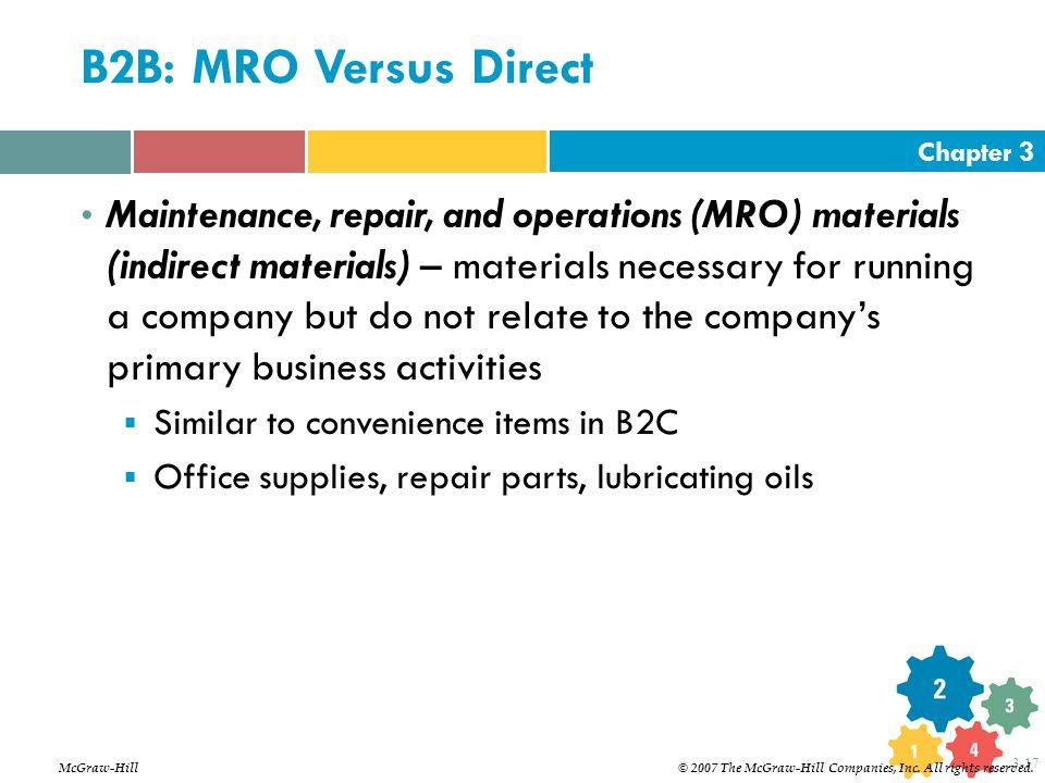 B2B: MRO Versus Direct