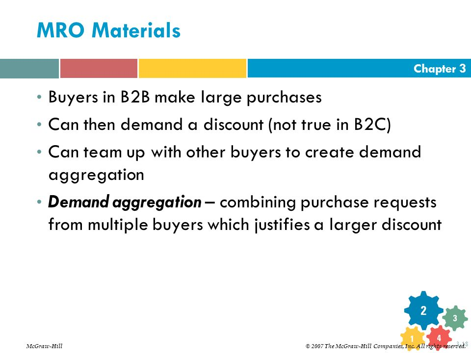 MRO Materials Buyers in B2B make large purchases