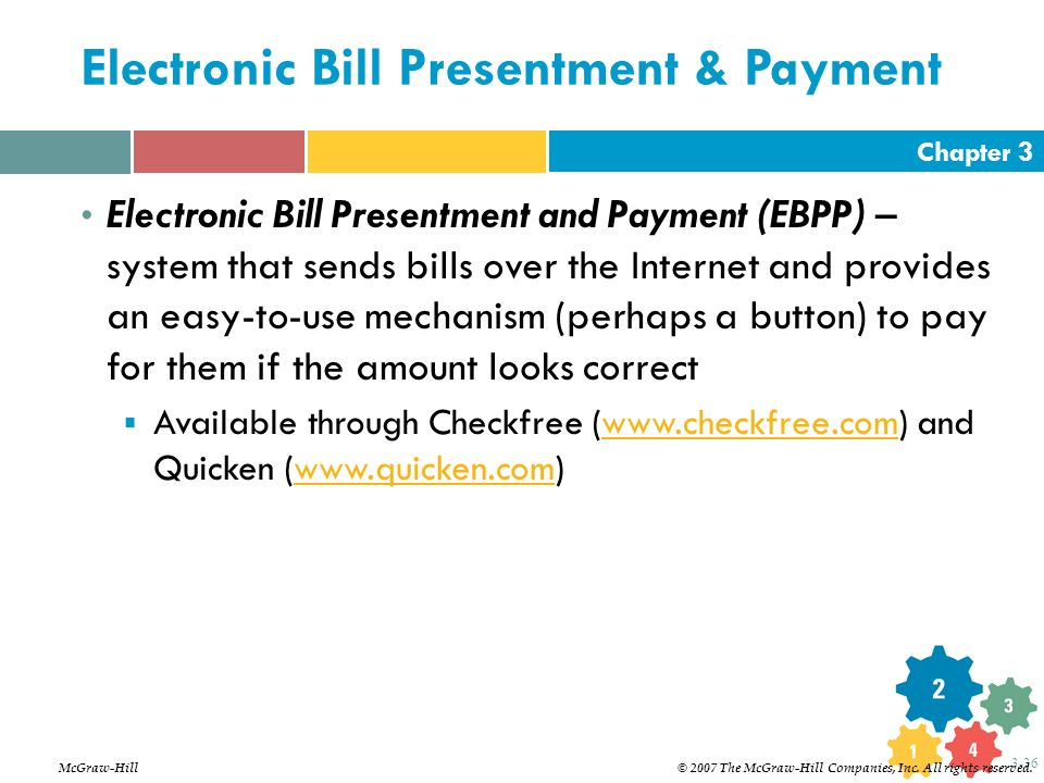 Electronic Bill Payment & Presentment - EBPP