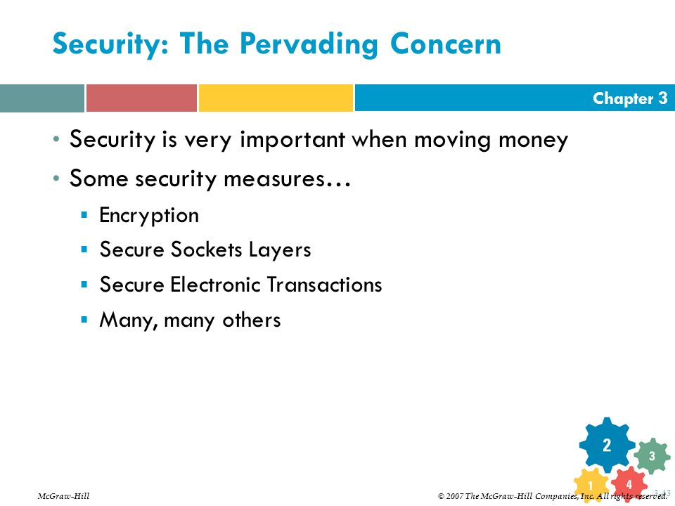 Security: The Pervading Concern