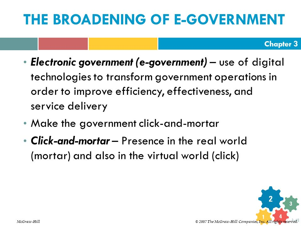 THE BROADENING OF E-GOVERNMENT