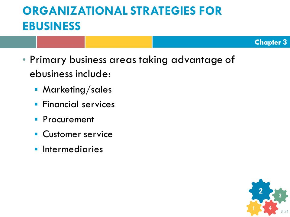 ORGANIZATIONAL STRATEGIES FOR EBUSINESS