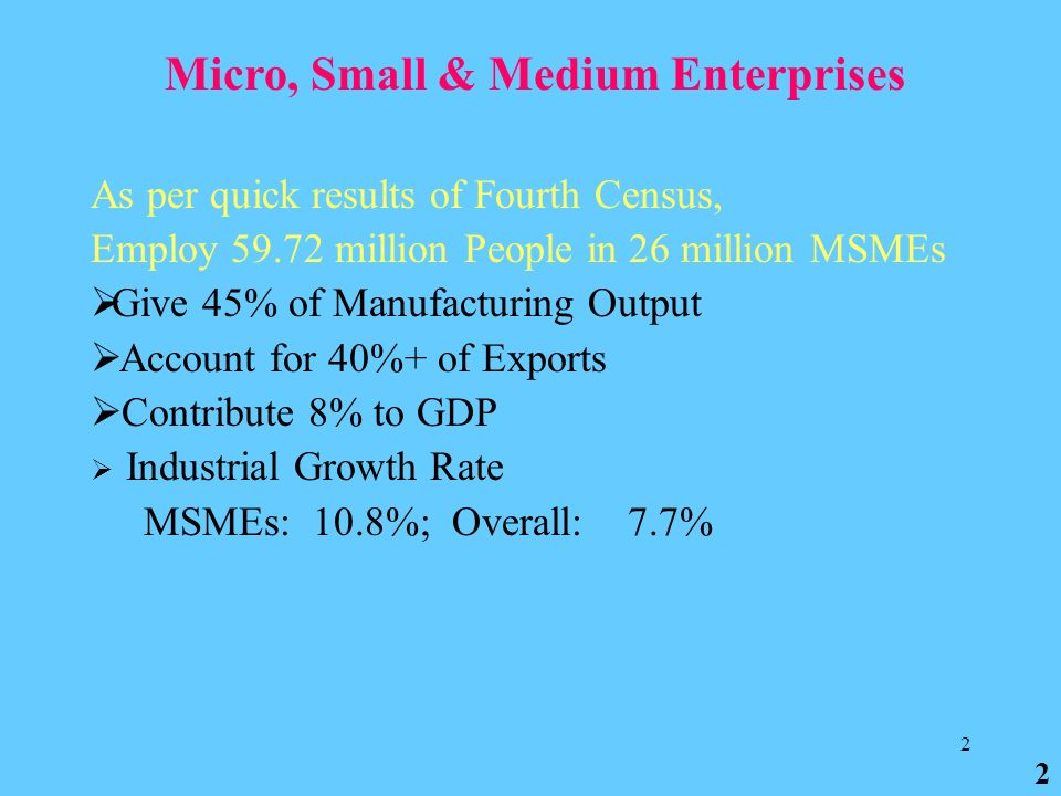 Ministry Of Micro Small And Medium Enterprises Msmes  Ppt Download