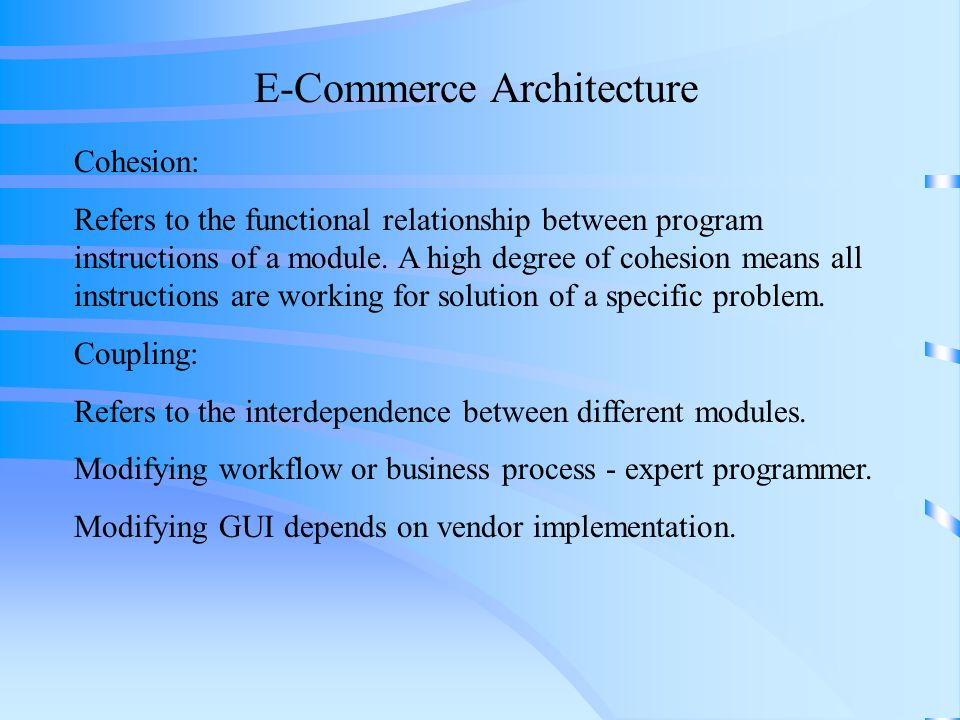 E-Commerce Architecture - ppt video online download
