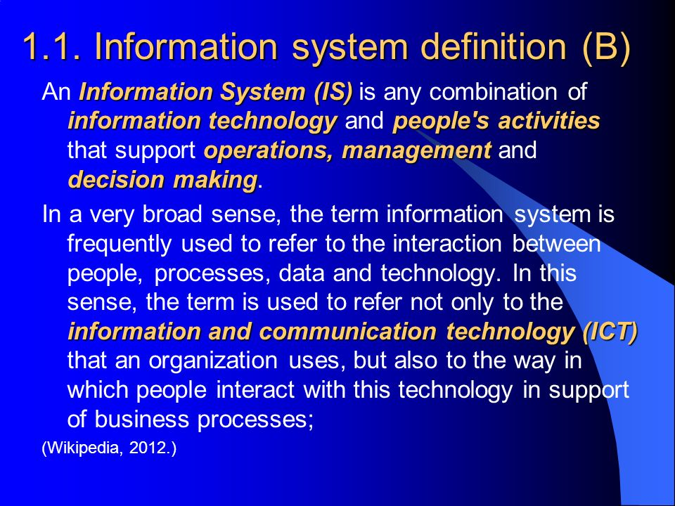 ICT (information and communications technology, or technologies)