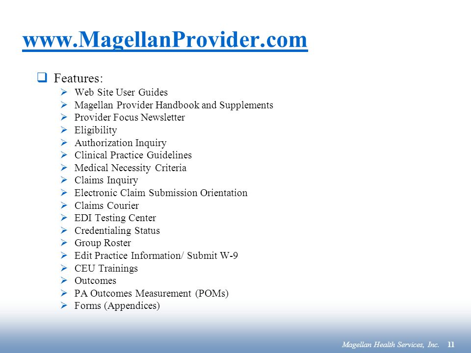 Magellan Health Services - ppt download
