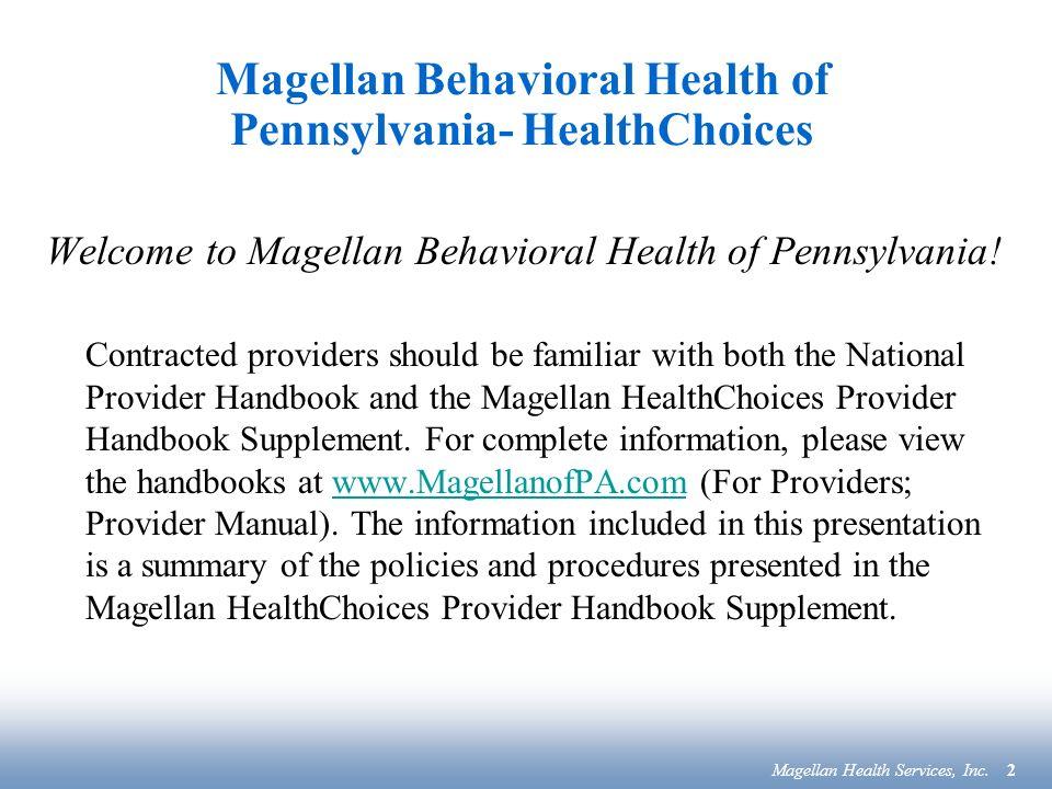 magellan behavioral health