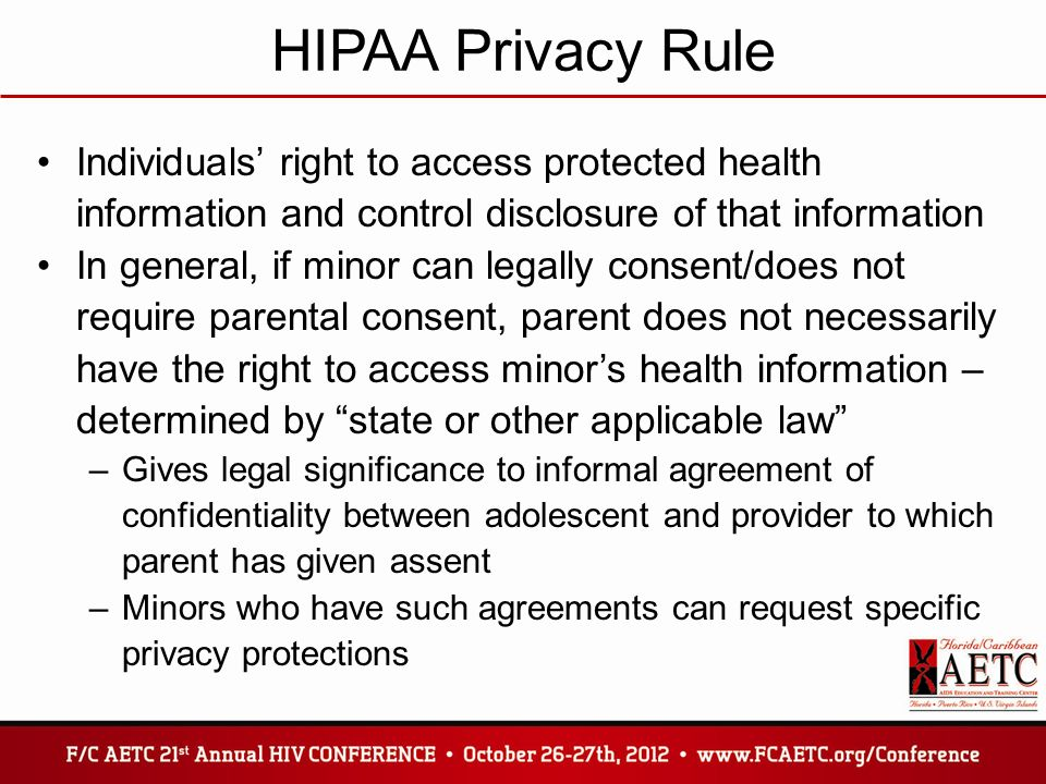 a minors right to confidentiality of • educate the billing department about minors' rights to confidentiality and how bills that detail information about services rendered can break confidentiality.