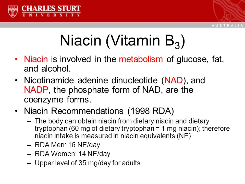 BMS208 Human Nutrition Topic 10: The Water-Soluble Vitamins: B ...