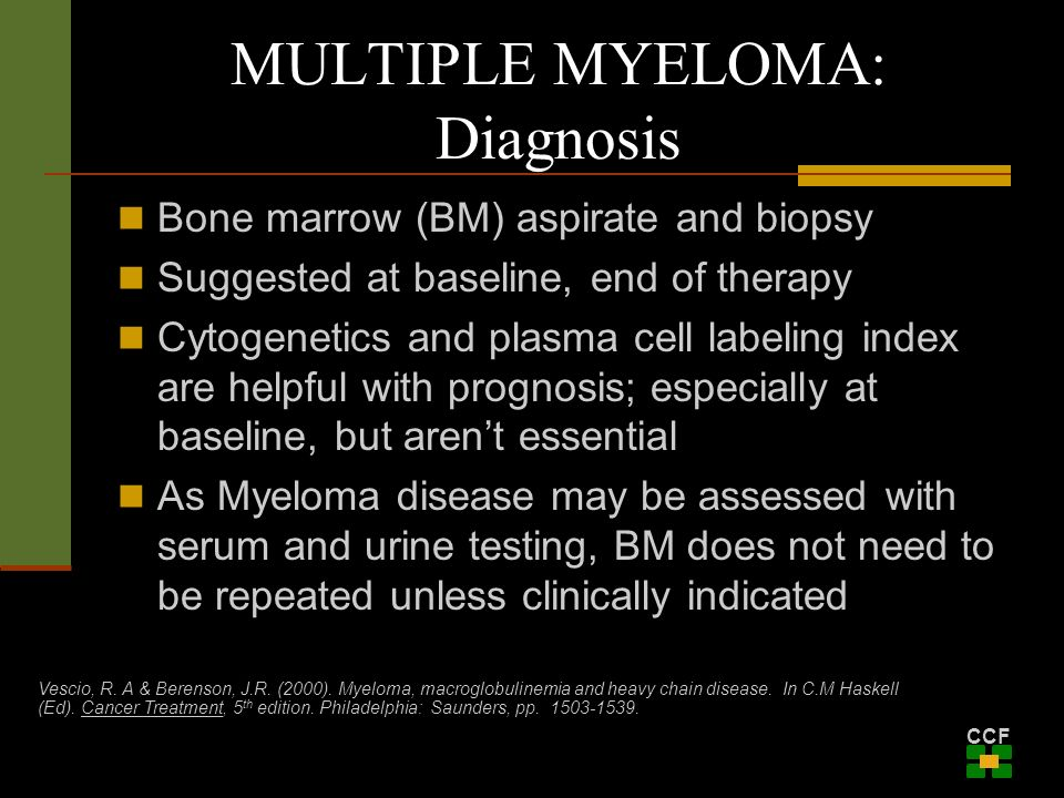 Multiple Myeloma: An Overview of the Disease and It's ... Multiple Myeloma Diagnosis