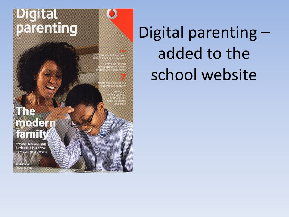 Digital parenting – added to the school website