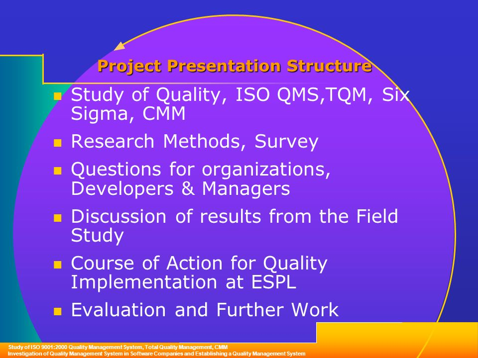 Tqm research questions
