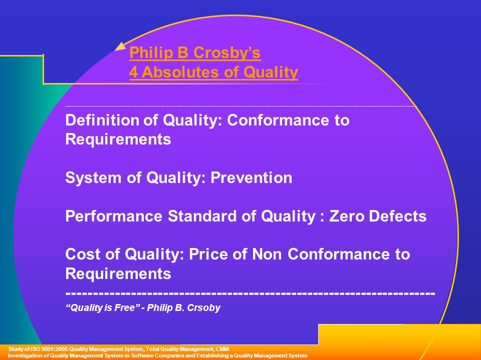 definition of quality and quality manag The goetsch and davis definition is a reasonable attempt to draw together the themes of a number of definitions of quality and create a unifying definitionthe most noteworthy addition to the previous discussion is the idea of dynamism.