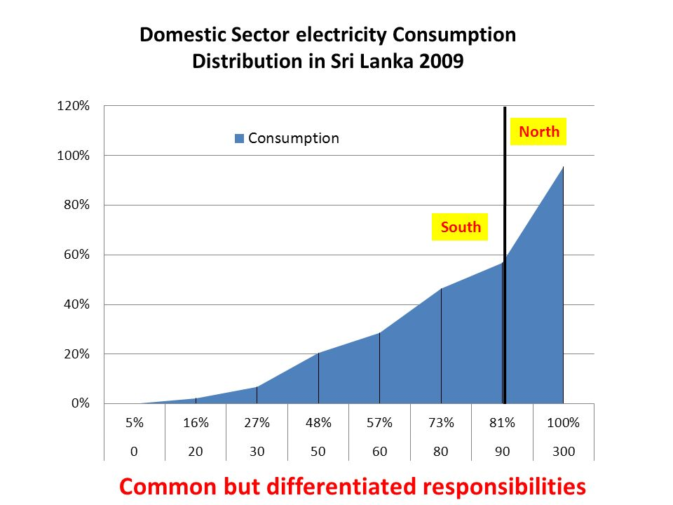 Domestic Sector electricity Consumption Distribution in Sri Lanka 2009