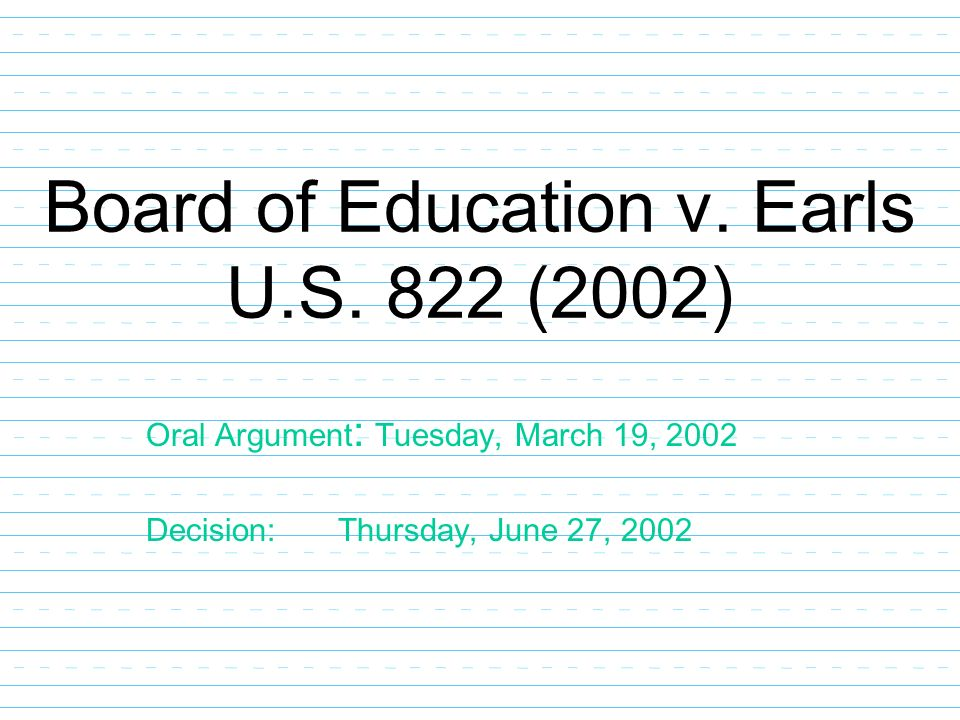 Board of Education v. Earls - Amicus (Merits)