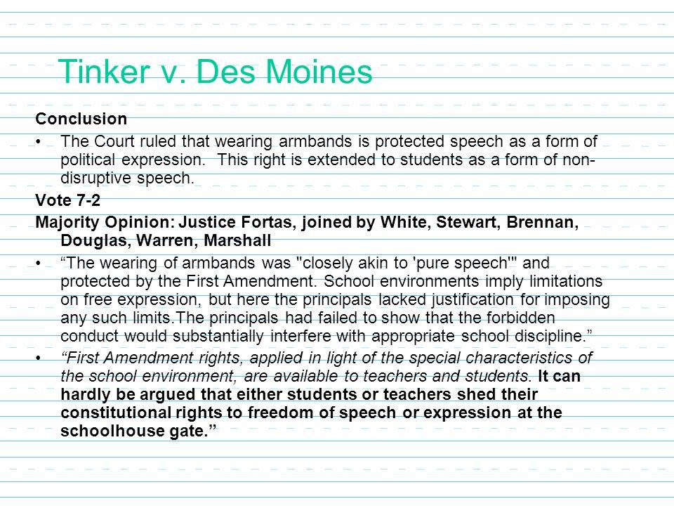 a comparison of tinker versus des moines