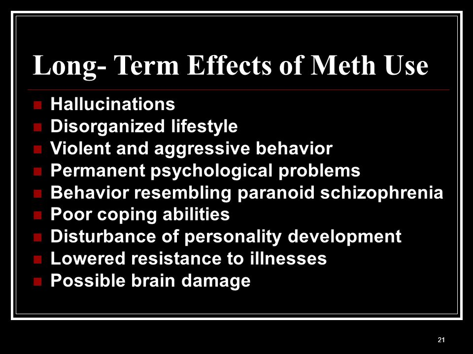 how to clean system of meth