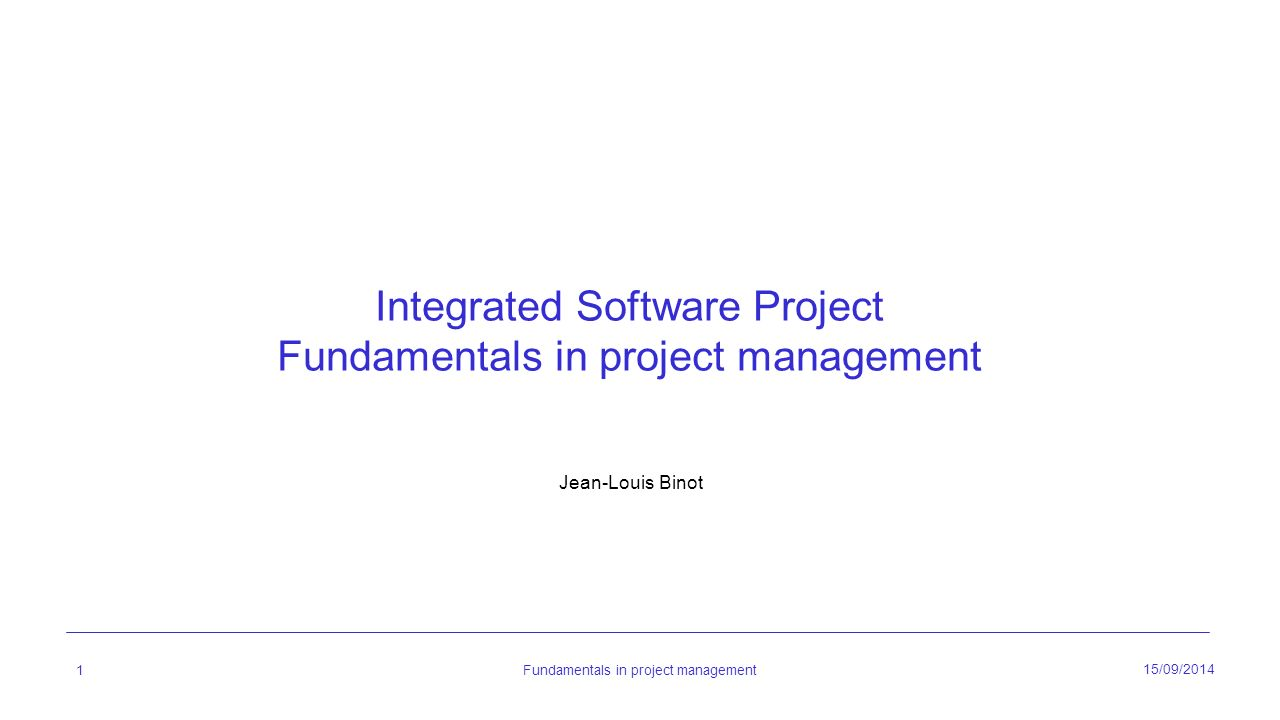 integrated project management software