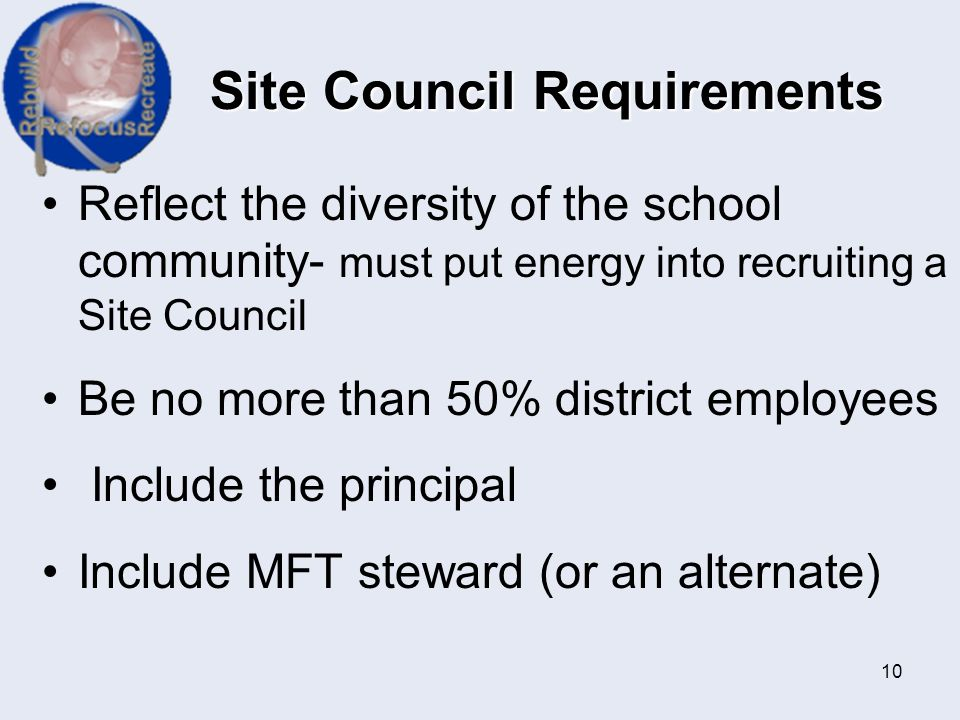 Site Council Requirements