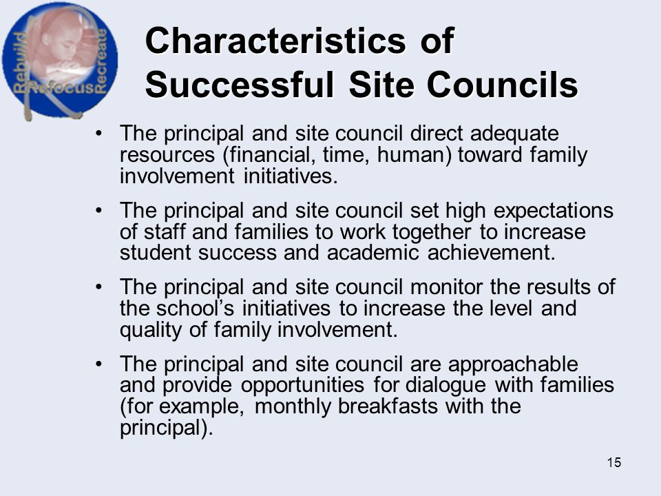 Characteristics of Successful Site Councils