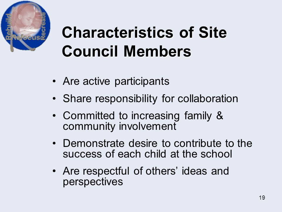 Characteristics of Site Council Members