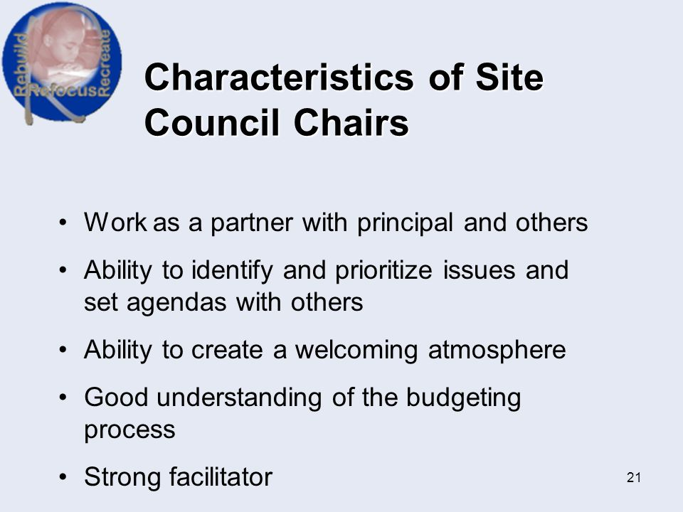 Characteristics of Site Council Chairs