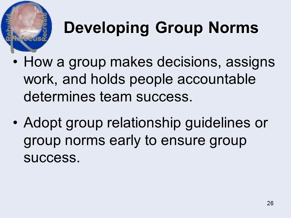 Developing Group Norms