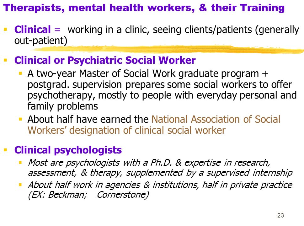 psychiatric social worker and patient relationship ansi