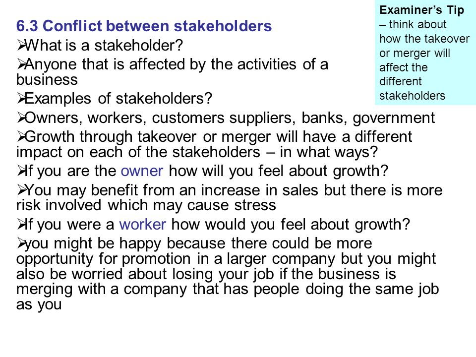 conflicts between stakeholders essay The survey for this essay was a short questionnaire that was designed to give the   common sources of conflicts in stakeholder collaboration according to orr.