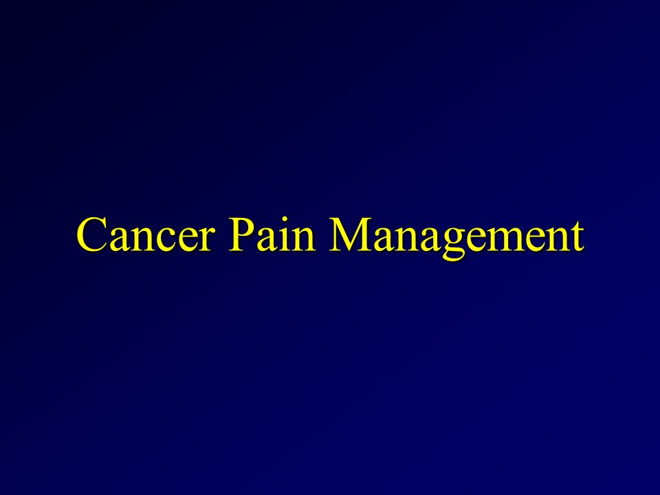 case study cancer pain Counseling a Cancer Patient-Case Study