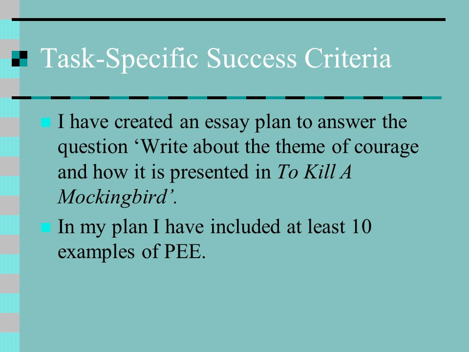 to kill a mockingbird success criteria ppt  to kill a mockingbird success criteria 2 task specific success criteria