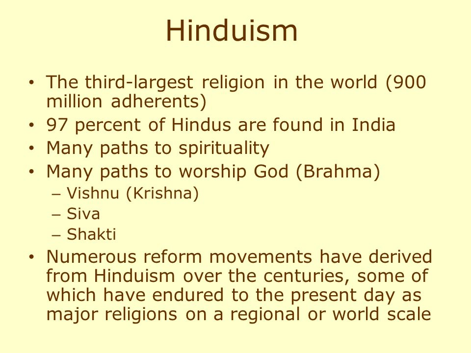 An overview of the religious paths of hinduism
