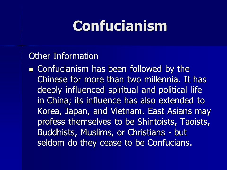an essay on confucianism and its influence in china How has confucianism influenced economic growth in east asia - confucianism essay example how has confucianism influenced modern economic development in east asia.
