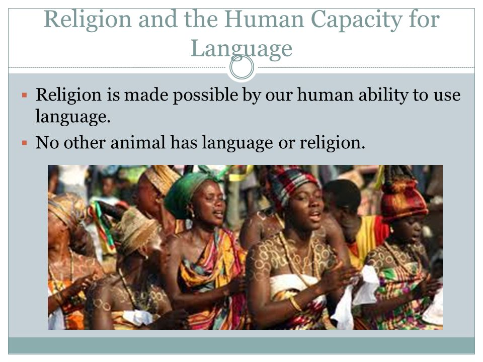 Religion and the Human Capacity for Language