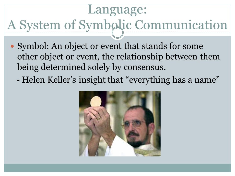 Language: A System of Symbolic Communication