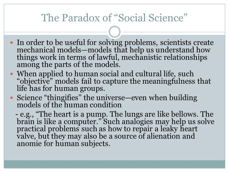 The Paradox of Social Science