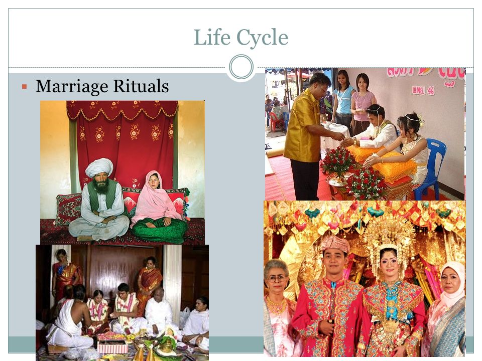 Life Cycle Marriage Rituals