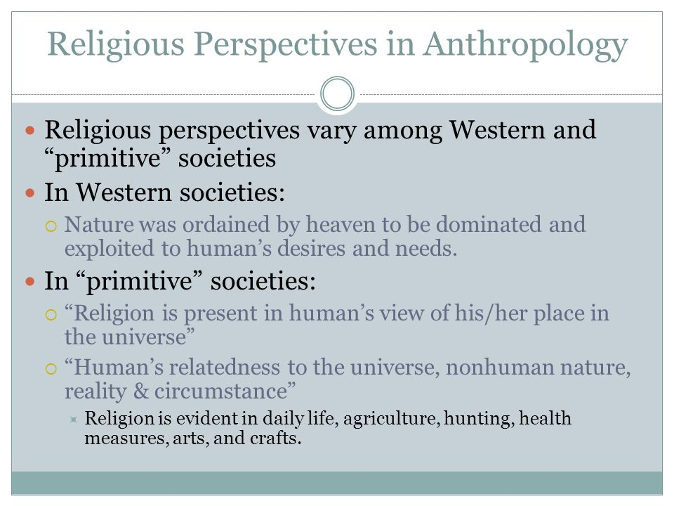 Religious Perspectives in Anthropology